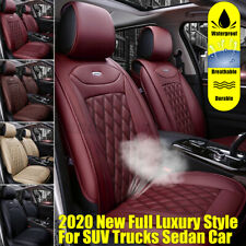 Universal PU Leather Auto Car Seat Cover Front Rear Cushion Full Pad Mat Protect