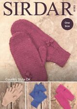 Sirdar Gloves and Mittens Knitting Pattern - 8183 - DK Double Knit