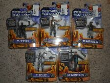 Playmates Terminator Salvation To Lot of 5, T-R.I.P. T-700, Marcus, Barnes