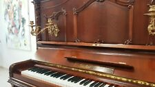 Gustav Rösler Klavier - Einzelstück - von 1895 - aufwendige Handschnitzarbeiten