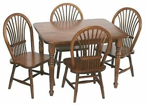 Amish Handcrafted Kids Toddlers Sheaf Table and Chairs 5-Pc Set Solid Wood