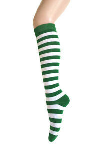 Women's Fashion  Multi-Striped Knee High Roller Skate Casual Tube Cotton Socks