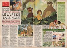 Coupure de presse Clipping 1993 Le Livre de la Jungle le retour Mowgli (2 pages)