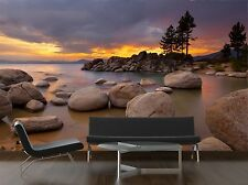 Tahoe Sunset Mural Photo Wallpaper Decor Paper Wall Background 3D