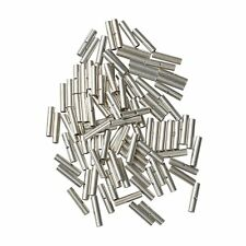 100Pcs Uninsulated 22-18 Gauge Non-Insulated Butt Wire Connector