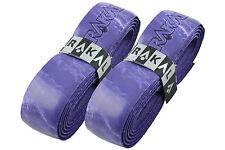 2 x Karakal Super PU Multi Replacement Grips Purple/White - Tennis - Squash