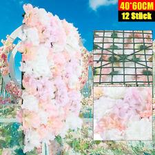 12x Künstliche Blumenwand Dekoration DIY Hochzeit die Hintergrund Dekorationen