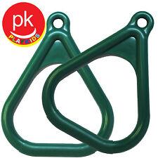 Trapeze Ring Bar Swing set Play playground Backyard Jungle Gym Hand Grip 2 Green