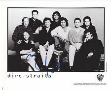 MARK KNOFFLER DIRE STRAITS MUSIC GREAT RARE SIGNED PHOTO COA
