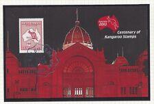 Australia 2013 $10 Kangaroo Stamp M S Opt ( Melbourne Victoria 3000 11.5 2013)