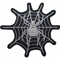 Spider Web Patch Iron On Sew On T Shirt Jeans Jacket Bag Embroidered Biker Badge