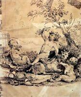 ENFANT DIONISOS. ENCRE SUR PAPIER. SIGNATURE INCONNUE. FRANCE((?). XVII-XVIII