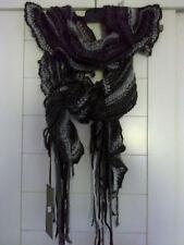 """Echarpe acrylique marron/gris 140 x 36cm  """"M&G"""" neuve"""