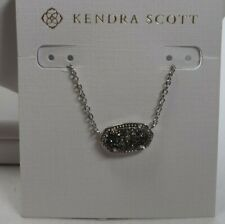 Kendra Scott Elisa Silver Tone Platinum Drusy Necklace $65
