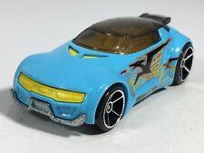 Hot Wheels 2009 High Voltage Light Blue HW Trick Tracks 5-Pack Loose Thailand #2