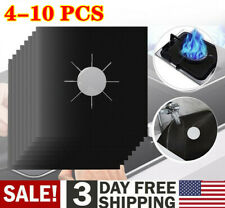 2-10Pc Gas Range Stove Top Burner Protector Reusable Liner Clean Non-stick Cover