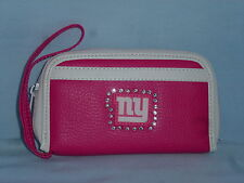 New York NY GIANTS   Womens/Girls  PINK FASHION WALLET with Rhinestones  NEW!