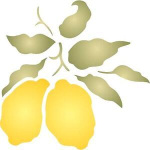 Lemon Stencil 16.5 x 16.5cm Reusable Fruit Vegetable Kitchen Template Furniture