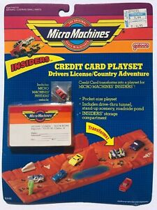 Micro Machines INSIDERS Credit Card Playset - Drivers License/Country Adventure