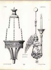 Gothic Lubeck Church Bronze Lamp Suspended Before Tomb Of Albert Biscope Angel