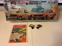 1969 Hotwheels Original Mongoose & Snake Drag Race Set W/ Cars Redline Rare Find