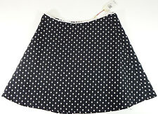 Skirt M.S.S.P Black And White Poka Dots Knee Length