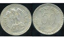 INDIA REPUBLIC      INDE  50  paise 1975   ( etat )