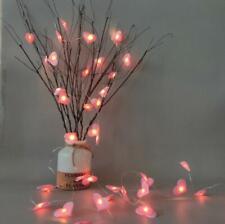 Pink heart LED Light Christmas Window decoration String Fairy Xmas party decor