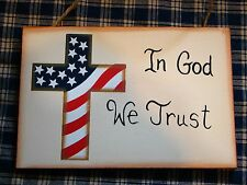"""New Plaque """" In GOD WE TRUST """" Count wood sign 6"""" x 4"""""""