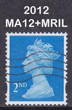 2012 Machin 2nd Class Blue SG U3012 MA12+MRIL Enschede SA Used Coil Stamp RARE