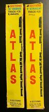 2 Boxes of Atlas 1 Straight and 1 Curved Track #21 and #31