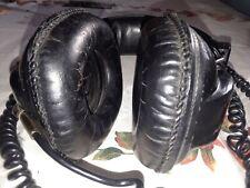 Rare Vintage Sony DR-7 Over Ear Black Studio Stereo Headphones Sound GREAT Japan