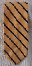 Towncraft Jc Penney Vtg Mens Orange Navy Blue Striped Wide Neck Tie 70's