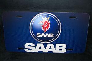 SAAB LOGO LICENSE PLATE FOR CARS  SUV'S METAL ALUMINUM SAAB CARS