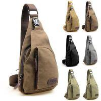 Men Shoulder Bag Sling Chest Pack Military Canvas Crossbody Handbag Travel Bag