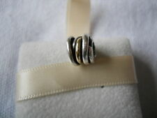 Genuine PANDORA sterling silver and 14ct Gold Ring Charm 790153