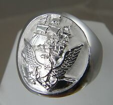 US Navy Licensed Official Navy Seal .925 sterling silver mens ring size 10. 5