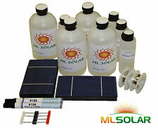 165 3x6 Solar Cell Kit Tabbing Bus, Flux, Encapsulation Make a 12V Solar Panel