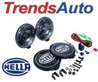 Hella 500 Black Magic Driving Lamp Kit 55W Round w/ Black Lens (Pair) 005750991