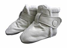 carozoo booties white 12-18m soft sole leather baby shoes