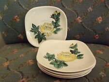 5 RED WING HAND PAINTED SAUCERS CHRYSANTHEMUM PATTERN