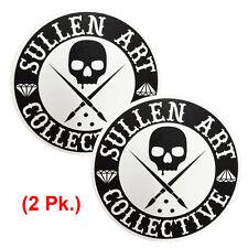 "Sullen Unisex Badge Of Honor BOH Sticker 4"" Pack Black 2 Pack Skate Streetwear H"
