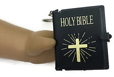 Mini Black Bible Key Chain made for 18 inch American Girl Dolls Accessories