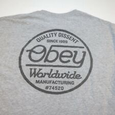 OBEY SHEPARD FAIREY ART WORLDWIDE QUALITY DISSENT TEE T SHIRT Sz Mens L