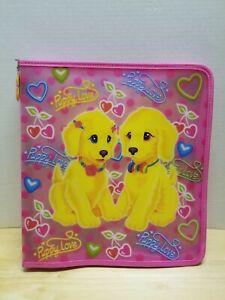 Lisa Frank puppy love 3-Ring Zipper Binder in good shape