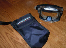 VINTAGE 1980s SCUBAPRO SNORKELING MASK IN ORIGINAL CANVAS BAG TEMPERED JAPAN