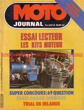 MOTO JOURNAL  447 Essai YAMAHA DT 125 MX  DTMX ; Kits Moteurs ; PARIS DAKAR 1980