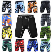 Mens Sport Gym Compression Under Base Layer Fitness Training Shorts Pants Tights