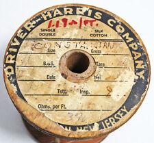 Vintage Driver Harris Constantan Wire Spool Copper Nickel Alloy
