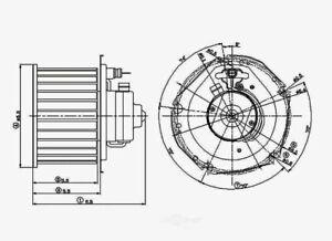 HVAC Blower Motor Front Global 2311597